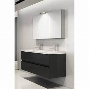 Badmöbel Mit Doppelwaschbecken : badm bel set mit doppelwaschbecken in120 cm grau hochglanz mit s ~ Indierocktalk.com Haus und Dekorationen