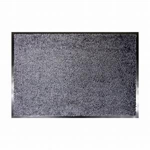 tapis d39entree 90 cm wash clean gris tapis d39entree With tapis d entrée gris