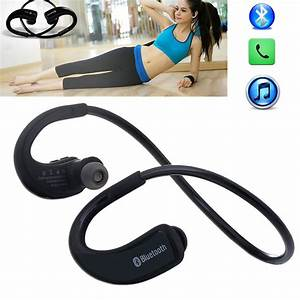Wireless Bluetooth Headphones Noise Cancelling Headset For Running Gym Exercise