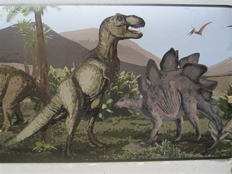 dinosaurs  rex brontosaurus wallpaper border  ebay