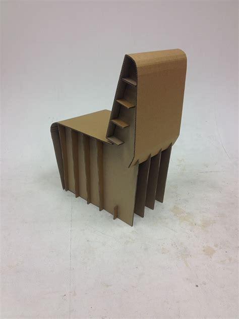 cardboard chair challenge  behance