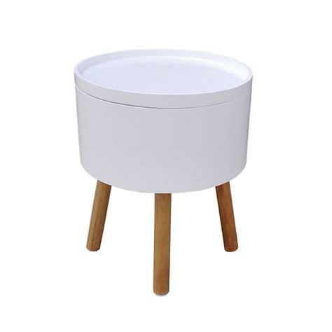 bout de canapé alinea bout de canapé blanc et 4 pieds pin massif cachou consoles tables chaises tables basses