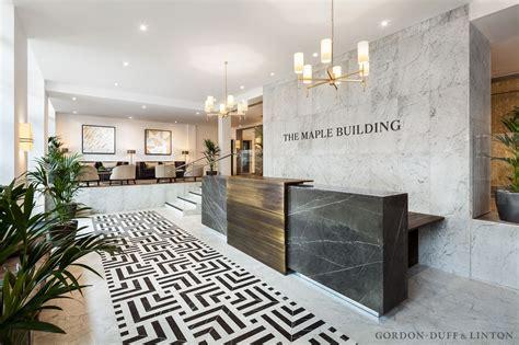build a reception desk reception area of the maple building bespoke carrara and