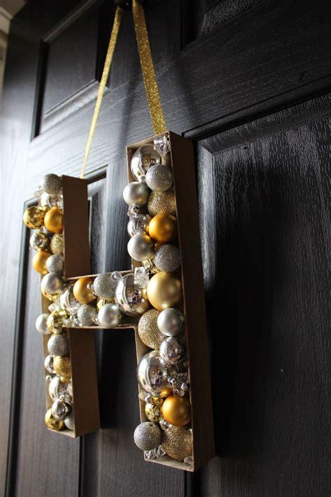 diy monogram door decoration