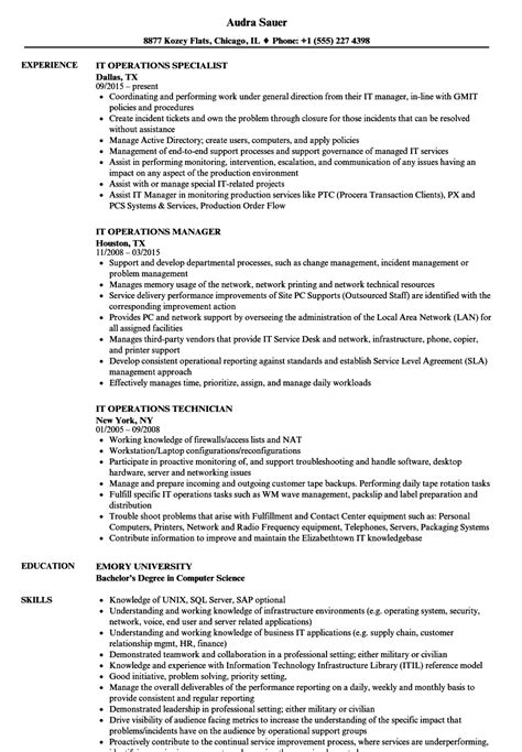 it operation manager resume ideas executive director
