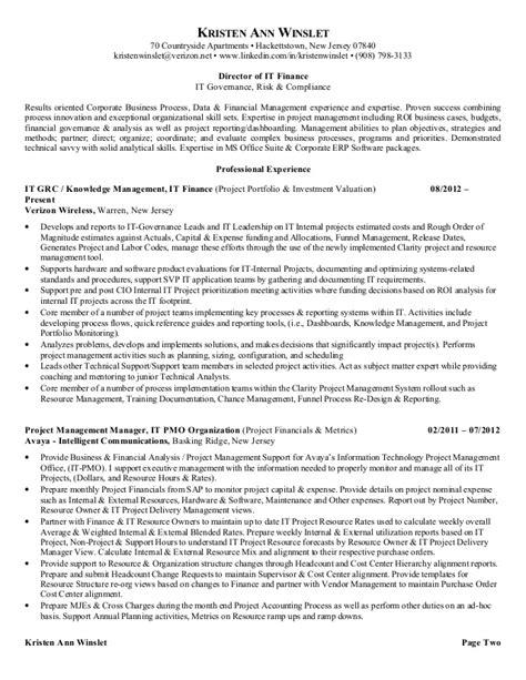 resume for kristen winslet