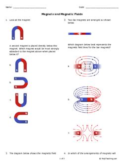 Magnets And Magnetic Fields (grade 8)  Free Printable Tests And Worksheets Helpteachingcom