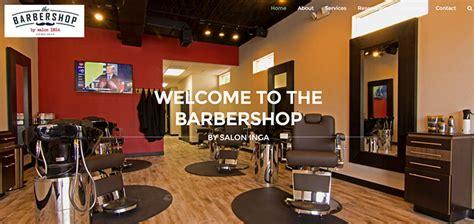 barber shop shave parlor web designs