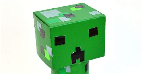 toilet roll creeper minecraft crafts kids activities blog