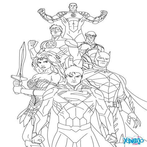 Superman Justice League Coloring Pages