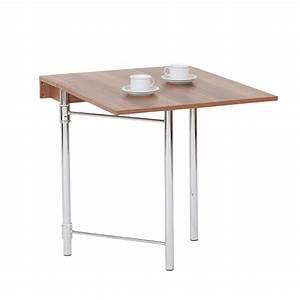 Ikea Table Murale : interesting hoffmann sumatra table pliante murale noyer fonc with table pliante murale ~ Teatrodelosmanantiales.com Idées de Décoration