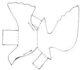 miranda s easy paper dove paper bird outline bird and craft