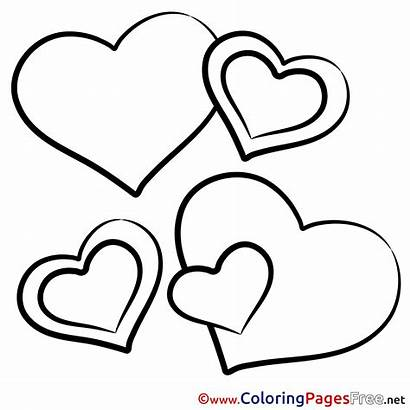 Coloring Hearts Printable Pages Valentine Drawing Valentines