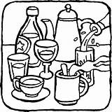 Drinks Coloring Pages Drink Food Printable Print Getcolorings Colorings sketch template
