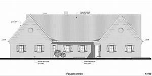 Plan Facade Maison : plans et permis de construire exemple d 39 un plan d 39 une facade de maison ~ Melissatoandfro.com Idées de Décoration