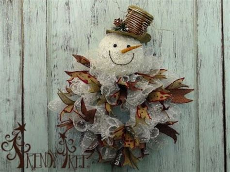snowman wreath tutorial  trendy tree youtube
