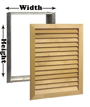 Wood Cold Air Return Covers   Filter Grille