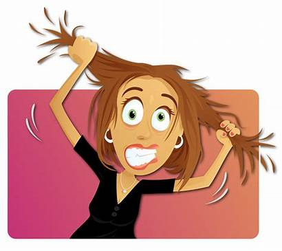 Clipart Woman Stress Worry Person Sensitive Stressed