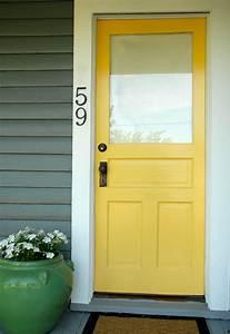 yellow, front, doors