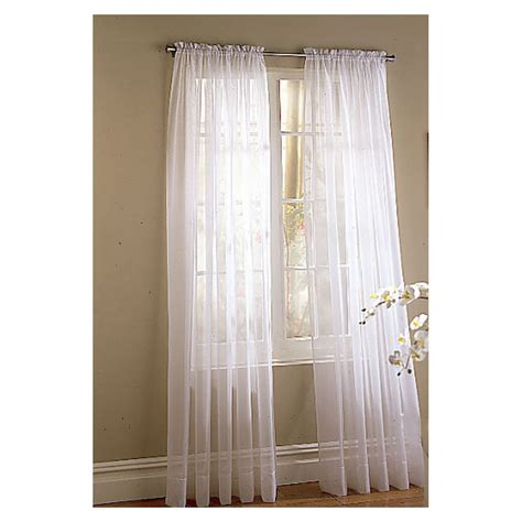 White Sheer Voile Curtains by Photos Style Selections 84 In L White High Twist Voile