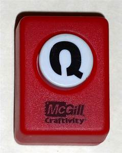 mcgill craftivity paper punch letter q upper case capital With letter paper punch