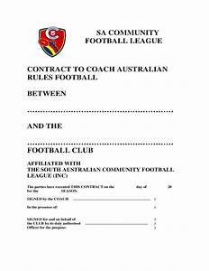 coaching contract template south australia free download With football contract template