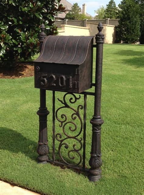 wrought iron mailbox post custom windows doors mailboxes houston by grunburg 1666