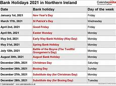 Bank Holidays 2021 in the UK