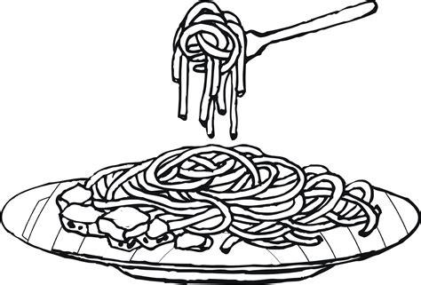 tasty spaghetti colouring pages picolour