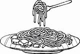 Plato Espaguetis Fideos Mewarna Drawings Pastas Fideo Espageti Espagueti Getdrawings Fertige Gerichte Picolour Webstockreview Dibujosa sketch template