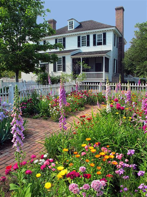colonial gardens landscaping a colonial garden photograph by dave mills