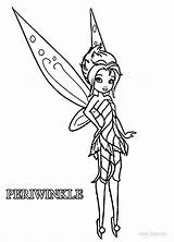 Coloring Fairies Pages Disney Periwinkle Tinkerbell Printable Cool2bkids sketch template