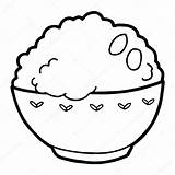 Rice Illustration Bowl Drawing Colouring Vector Coloring Isolated Fried Template Sketch Getdrawings Depositphotos sketch template