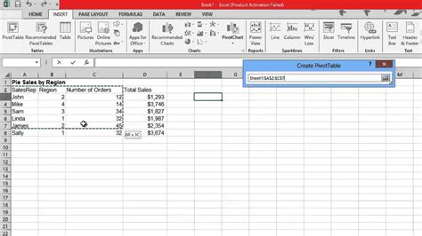how to make a pivot table how to create pivot table in excel 2013 youtube