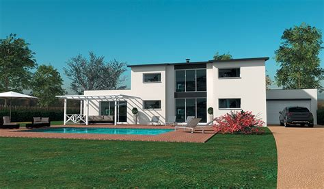 maison contemporaine  etage    chambres