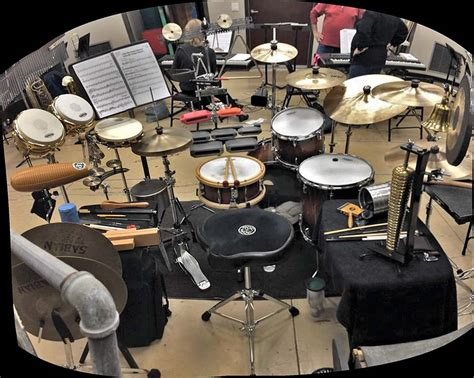 Drum Set And Percussion Setups From Musical Theater And More