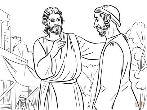 jesus heals  man born blind coloring page