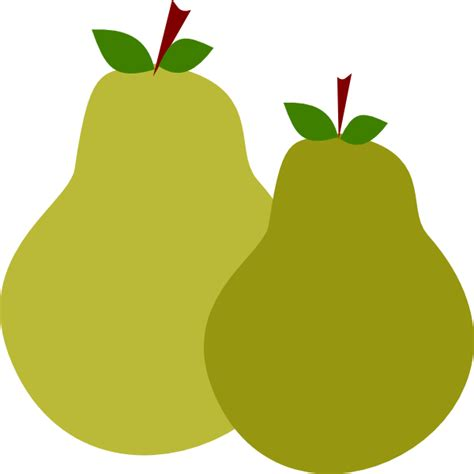 Pair Of Pears Clip Art At Clkercom  Vector Clip Art
