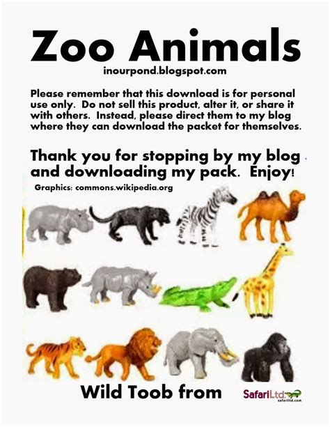 zoo animal animals cards wild pond matching game printables safari activities