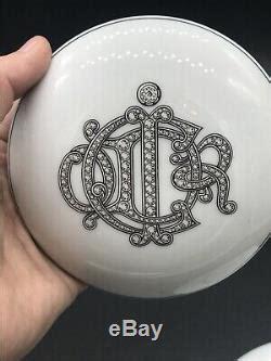 vintage christian dior monogram porcelain limoges france  trinket box rare