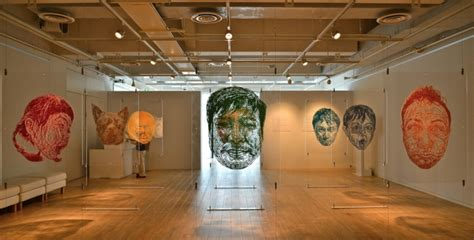 life sized paper cutouts exhibition  risa fukui tokyo japan