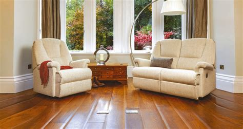2 Seater Settee Second by Milburn Fabric Reclining 2 Seater Settee