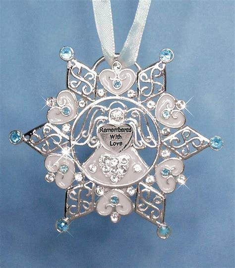 treasured remembrance snowflake ornament