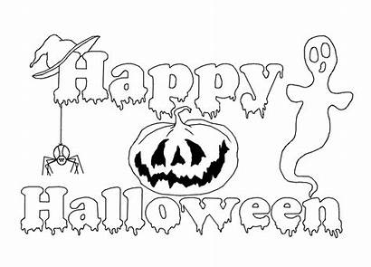 Halloween Coloring Happy Sheets Fabulous Colouring Worksheets
