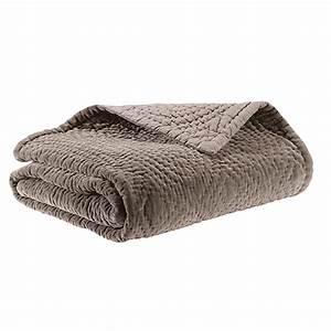 Couvre Lit Velours : couvre lit nara velours de coton piqu main ~ Teatrodelosmanantiales.com Idées de Décoration