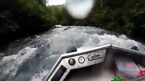 Jet Boat Jumping Beaver Dam by Alaska Mini Jet Boat River Run Funnycat Tv