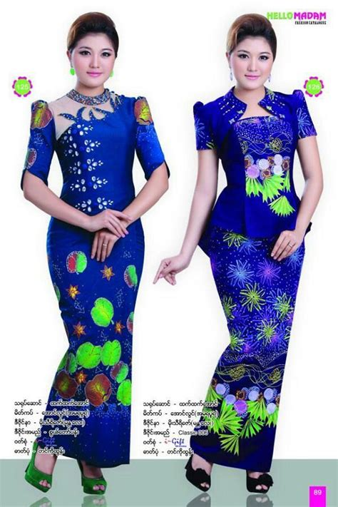 myanmar dress traditional attires pinterest fashion