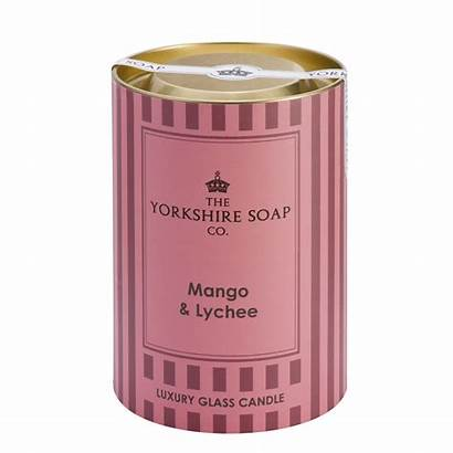 Mango Lychee Glass Candle Basket Scented