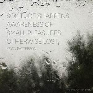 Solitude Quotes QuotesGram