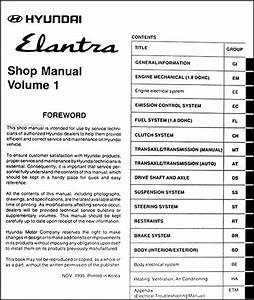 1996 Hyundai Elantra Repair Shop Manual Original 2 Vol  Set